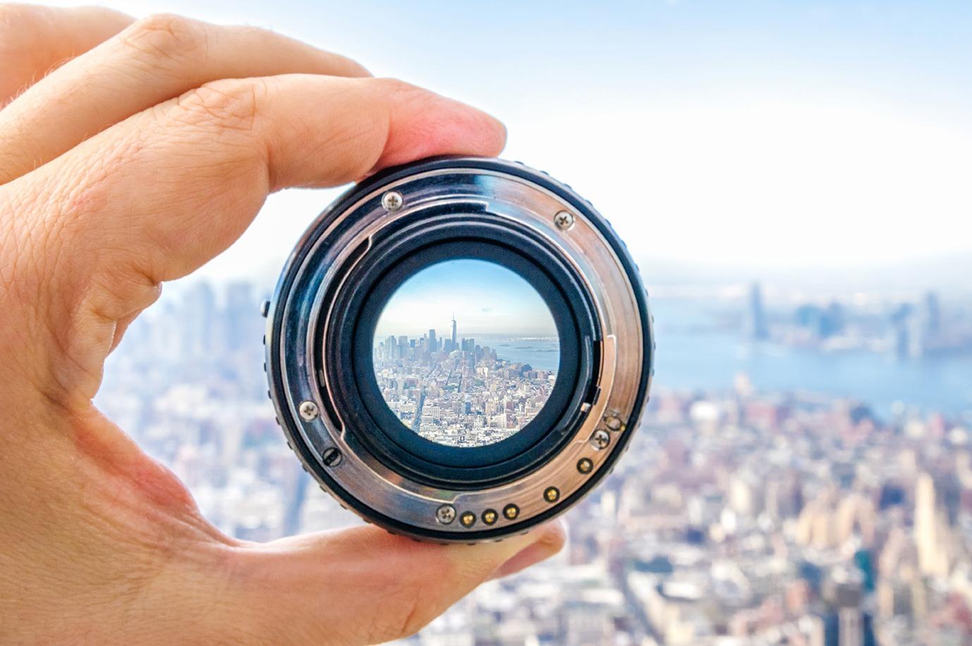 City through a lens